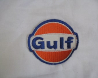 GULF  70s vintage patch  sew-on and never used free shipping