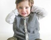 Baby Boy Vest, Reversible Fleece Vest