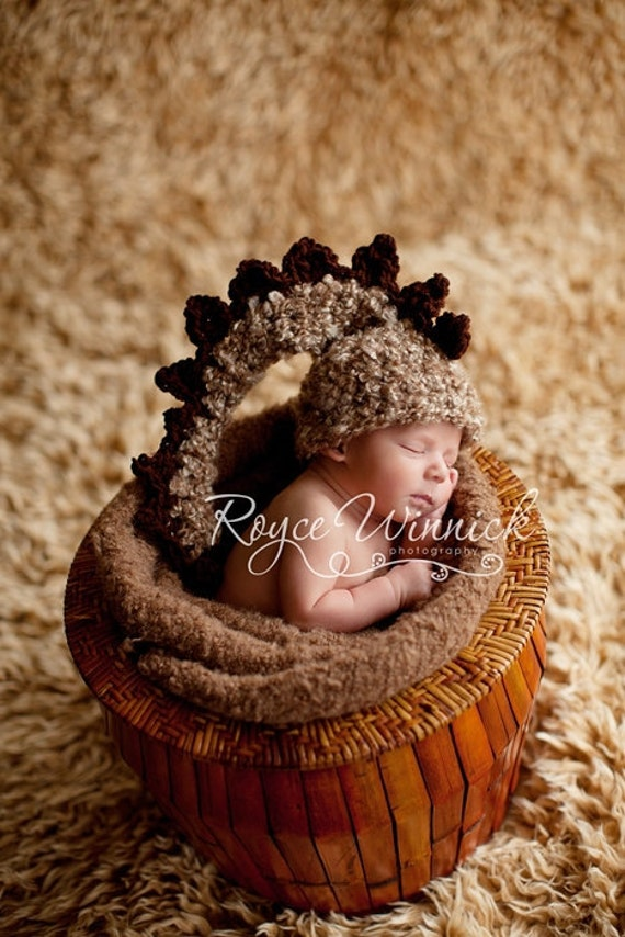 PDF Instant Download Easy Crochet Pattern No 201  Baby Dinosaur Hat Photography Prop Sizes preemie, newborn, 0-3, 3-6 months