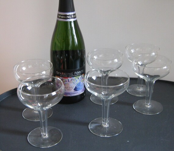Hollow stem coupe champagne glasses stemware set of 6 - Champagne flutes hollow stem ...