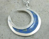 Crescent Moon Pendant in Fine Silver - Waxing Moon - Waning Moon - Lunar Phases - Planetary Eclipse - Wiccan Jewelry