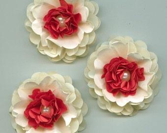Strawberries and Cream Peony Paper Flowers