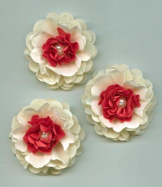 Strawberries And Cream Peony Paper Flowers From