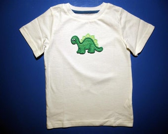 Baby one piece or toddlers tshirt. - Embroidery and appliqued boys dinosaur