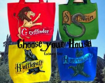 Harry Potter Tote- choose 1- Slytherin, Gryffindor, Hufflepuff, Ravenclaw- Hogwarts House