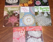 Lot of 8 Vintage Booklets Instructions Crochet Knit Tatted Doilies 1948-1969