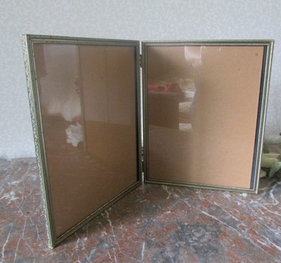 Double Hinged Metal Photo Frame 8x10