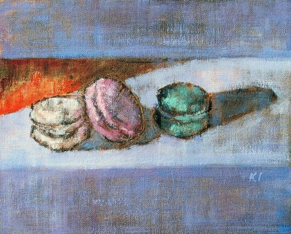 Still Life Painting French Macarons