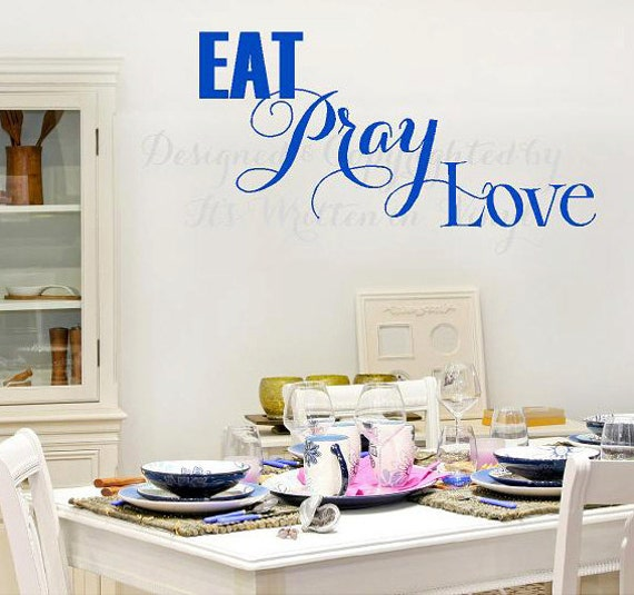 Items similar to eat pray love vinyl lettering decalwall words quotes