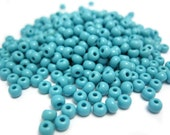 Turquoise Seed Beads, Rocaille Glass Sead Beads, Size 6/0 4mm, 1oz