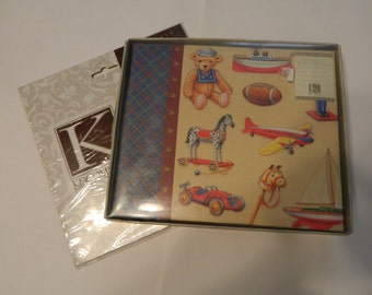 Baby Boy 6 x 6 Scrapbook Album with Refill Pages