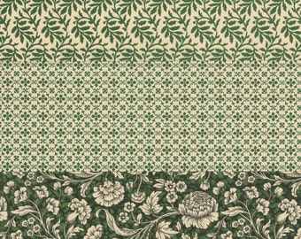12x12 Italian Decorative Papers in Greens for Bookbinding Paper Arts Collage Scrapbooking