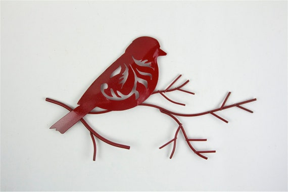 Metal Bird Wall Decor Target : Items similar to red bird on branch wall art metal decor
