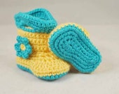 Baby Rain Boots, Baby Booties, Girl Boots, Boy BootsRain Boots, MADE TO ORDER, Newborn to 12 Months