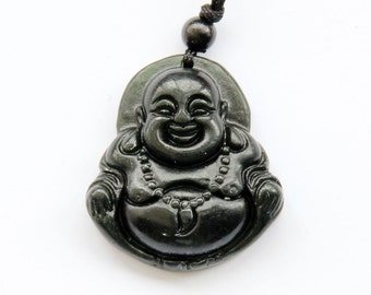 Natural Stone Tibet Buddhist Fortune Buddha Amulet Pendant 35mm x 32mm  TH164