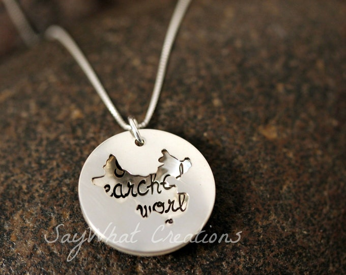 Custom Hand Stamped Sterling Silver CHINA Locket Necklace Perfect for Adopting Mothers