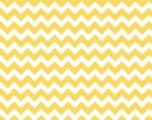 Riley Blake Yellow Small Chevron- 1/2 yard