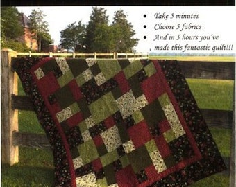 Take 5 Quilt Pattern- Choose 5 fabrics and sew this quilt in 5 hours.