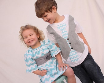 Sibling Easter outfits, Chevron Easter sibling outfits, Easter outfits for sister brother