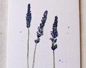Lavender- Blank Card