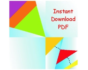 Spring Kite in the sky PDF quilt INSTANT DOWNLOAD paper foundation Sewing Pattern