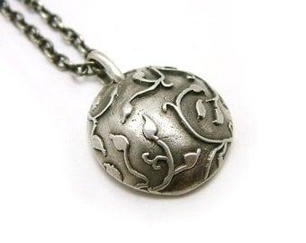 Branch necklace, oxidized silver necklace, handmade jewelry