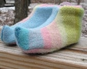 Elfin Slippers made from upcycled sweaters, with CASHMERE lining