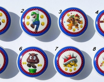 8 set MARIO and Friends boy girl kids Dresser Drawer Knob