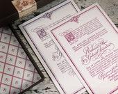 Renaissance Letterpress Wedding Suite