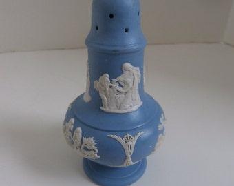 Light Blue Jasperware Salt or Pepper Shaker Wedgwood Pottery England