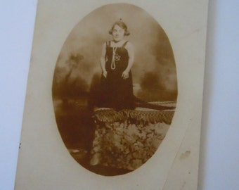 Portrait Little Person Real Photo Postcard Historical Collectible