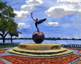 Jacksonville- Memorial Park- -Archival Print