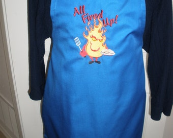 All Fired Up Barbeque Bib Apron