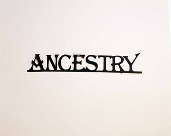 Ancestry-- Die Cut for Scrapbooking or Cardmaking - Set of 2 - Great for Family Tree Scrapbook