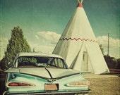 """Custom Listing for Etsy User kalliber-Fine Art-""""Wigwam Motel Route 66"""" 12x12 Metallic Photograph Print"""