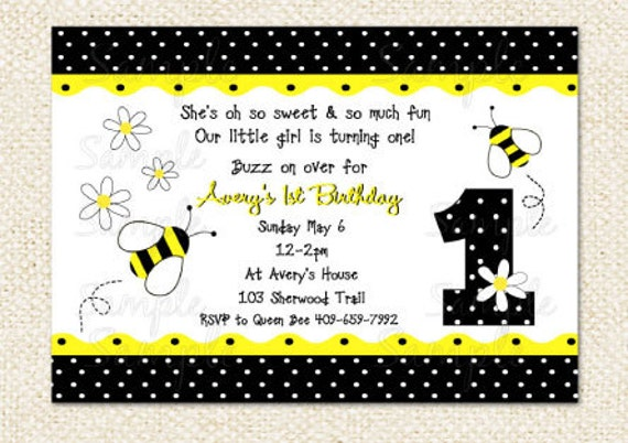 Bumblebee Birthday Invitations was beautiful invitation template
