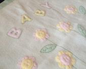 Flower fleece baby blanket