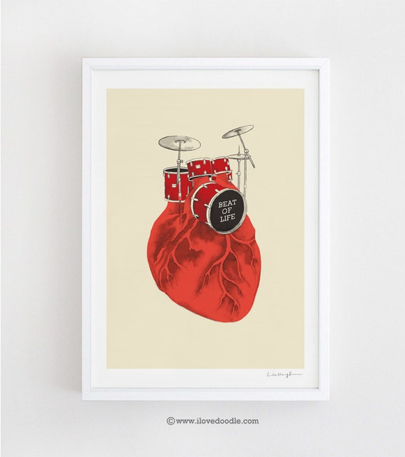 Beat of Life - art print
