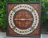 Primitive Wood Roulette Game Board 10 for 1 Horse Game Board Folk Art Gameboard
