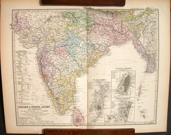 Antique Map of India and Inner Asia