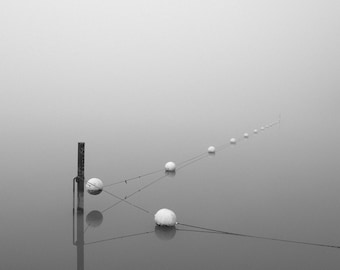 black and white photography, minimalist art, nautical photography, minimal, minimalist photography, grey, fog, foggy, maritime, modern,