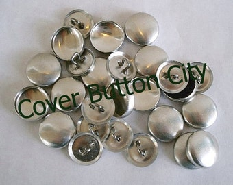 SALE - 75 Size 24 (5/8 inch) Cover Buttons - WIRE BACKS