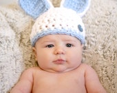 Bunny Hat photo prop, easter hat, easter bunny, infant photo prop, easter gift, shower gift