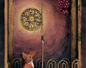 The Fox and the Grapes - Print on Wood Block