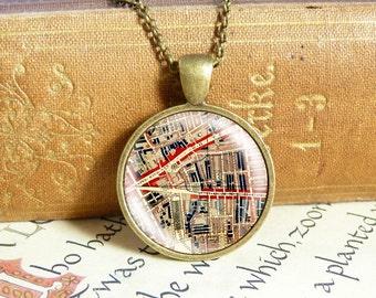 Whitechapel Map - Vintage Necklace