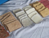 50 Vegan Soap Samples, wedding favors, guest soaps, birthday party favors, travel soaps, holiday favors, etc.