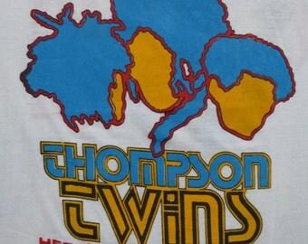 THOMPSON TWINS vintage 1985 tour TSHIRT