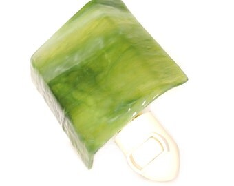 Sage Green Glass Night Light