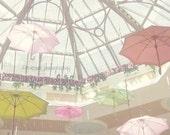 Umbrella Photography, Pastel Nursery Art, Pastel Pink and Yellow Nursery, Whimsical Umbrella Print, Pastel Wall Art, Colorful Nursery Print