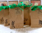Personalized Kraft Favor Bags  -  SMALL BAGS - Set of 5 - Wizard of Oz - You Choose Ribbon Color